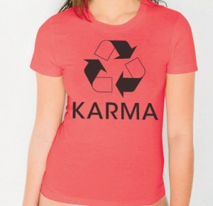 Karma T-Shirt in Pomegranate